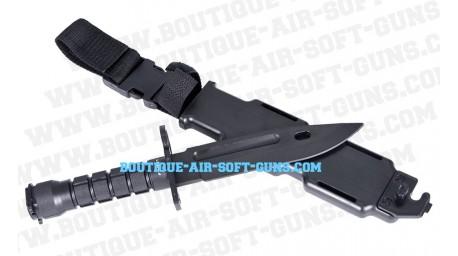 Baionnette couteau en plastique noir pour airsoft