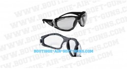 Lunette de protection incolore airsoft avec protection mousse dmoniac