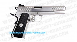 knights Hawk 1911 we gas blow back chrome