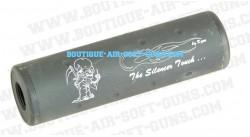 Silencieux noir m2 s longueur 110mm