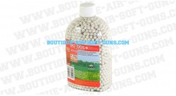 3000 billes blanches 0.28g airsoft biodegradable