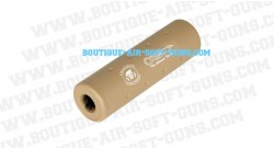 Silencieux M2 Ghost Recon tan pour airsoft - 110 mm diametre 30 mm
