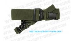 Sangle verte OS Green ASG pour arme tactical 1 point