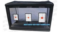 Cible à filet avec réarmement automatique 3 objectifs airsoft