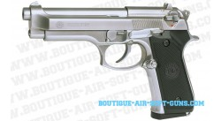TAURUS PT92 chromé full-metal culasse mobile Pistolet propulsion Co2