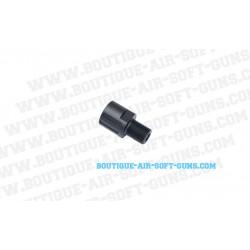 Adaptateur ASG airsoft CZ Scorpion EVO3A1 de 18mm à 14mm