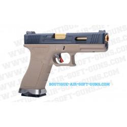 Réplique airsoft G18 series Force et Tan custom GBB - cal 6mm bbs