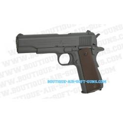 Réplique airsoft CO2 pistolet Colt M1911 A1 finition grey metal - 1.1 joule