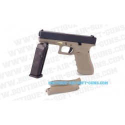 Pistolet airsoft G17 gen 4 Tan GBB - calibre 6mm 0.9J