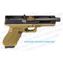Pistolet airsoft gaz Secutor Gladius 17 dark earth 0.9J - calibre 6mm
