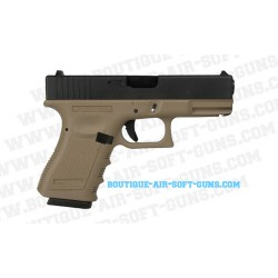 Réplique airsoft d'un pistolet à billes WE G19 gen 3 TAN - cal 6mm