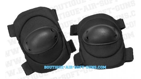 Set de protection 2 coudières noires - airsoft et paintball