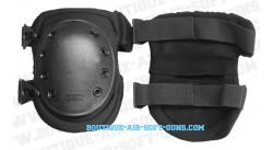 Set de protection 2 genouillères tactiques noires pour airsoft et paintball (grande coque)