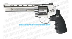 "Revolver airsoft Dan Wesson 357 chromé canon 6"" propulsion Co2"