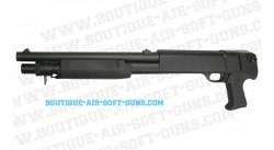 Pompe à crosse pistolet Franchi SAS 12 short spring noir