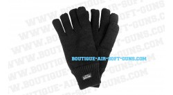 Gants noirs extensibles Thinsulate - taille moyenne 8 à 10