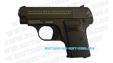 Colt 1908 '25' noir - full metal