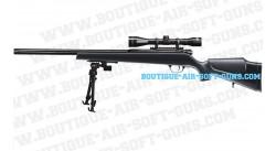 Tokyo Soldier SX9-DB GAZ Sniper avec lunette de visée et bipied