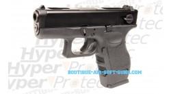 Glock 26 C - Pistolet airsoft à gaz blowblack culasse mobile