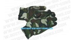 Gants avec grips Picots antidérapants Camouflage