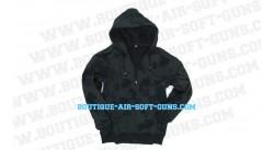 Gilet à capuche camouflage noir - Taille XL