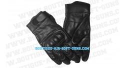 Paire de gants noir avec coque renforcé