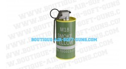 Fumigène factice M18 Yellow Smoke Grenade