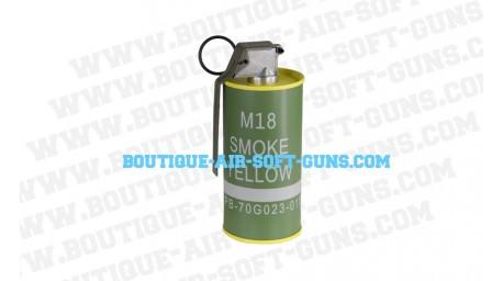 Fumigène factice M18 Yellow Smoke Grenade