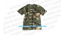 T-shirt motif camouflage militaire vert