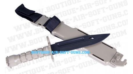 Baionnette couteau en plastique tan pour airsoft