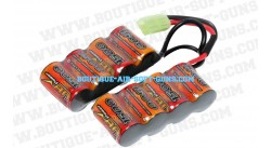 Batterie double 9.6 V / 1500 mAh - type mini
