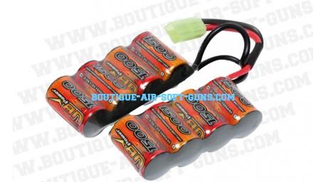 Batterie double 9.6 V / 1500 mAh - type mini
