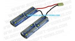 Batterie seule de airsoft electrique en 1100 mA/h en 9,6Volts (connecteur type mini)