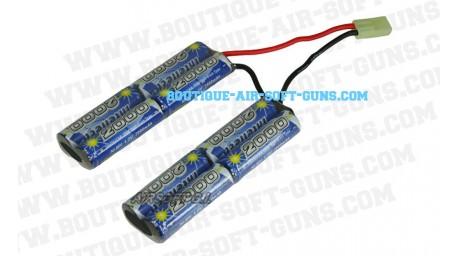 Batterie double 9.6 V / 2000 mAh - type mini