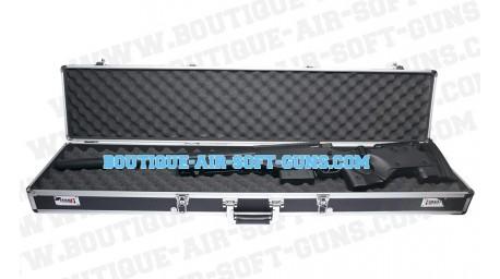 Mallette aluminium noire - 121 cm