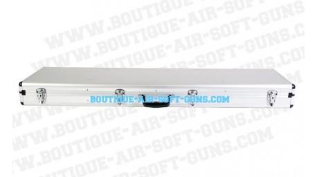 Mallette aluminium gris  - 134 cm pour réplique