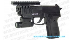 Sig Sauer P228 spring avec lampe et rails