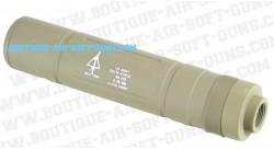 Silencieux long Delta Force Tan 155 mm