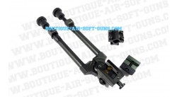 Bipied Metal Swiss Arms avec rail de 22  mm et fixation canon