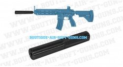 Silencieux airsoft Swiss Arms pour M4 AEG
