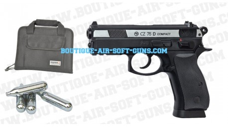 Pack CZ 75D Compact avec co2, housse et bille offert