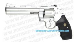 357 python chromé Réplique Revolver CyberGun GBB Gaz
