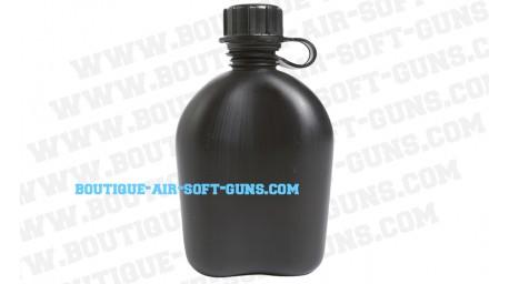Gourde US noire en PVC - 1 litre