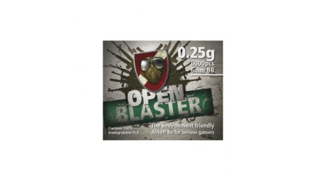 Billes Open Blaster 100% biodégradable - 0.25g