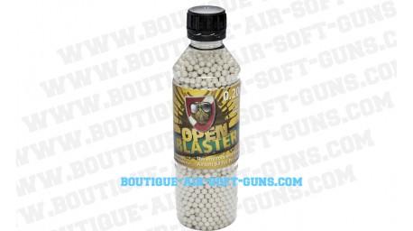 3000 billes blanches biodégradable 0.20g open blaster