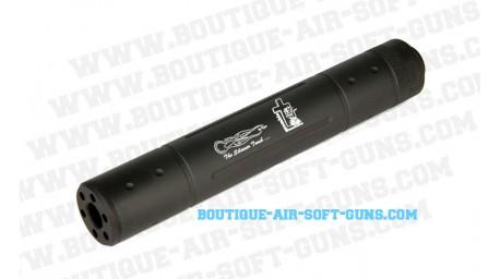 Silencieux airsoft Zombie Hunters noir Longueur 125 mm