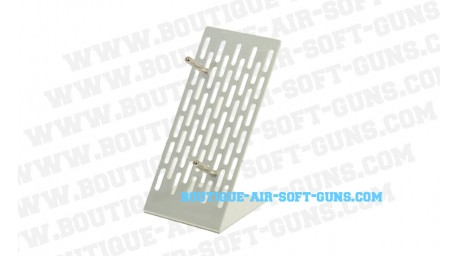 Support presentoir pistolet aluminium gris