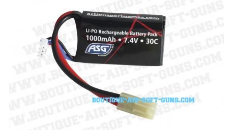 Batterie airsoft Li-Po 7.4V 1000mAh