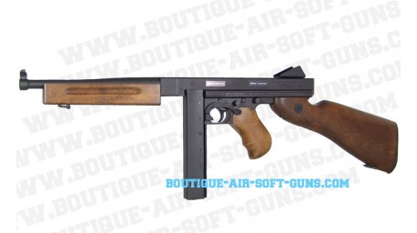 Thompson M1A1 Military crosse en bois véritable