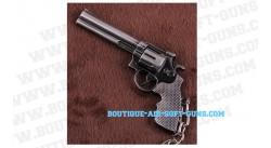 Porte-clé revolver en métal